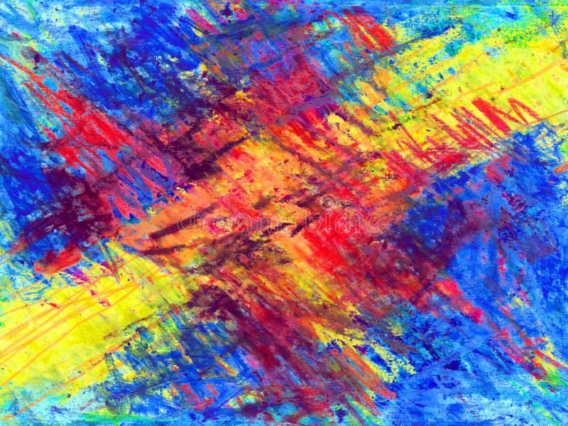 Kleurrijke kleurpotloodachtergrond stock illustratie