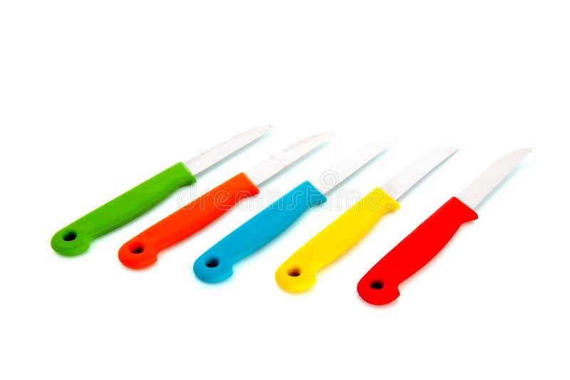 Download Kleurrijke knifes stock foto. Afbeelding bestaande uit geïsoleerd - 29508740