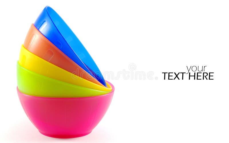 Kleurrijke kommenclose-up stock afbeelding