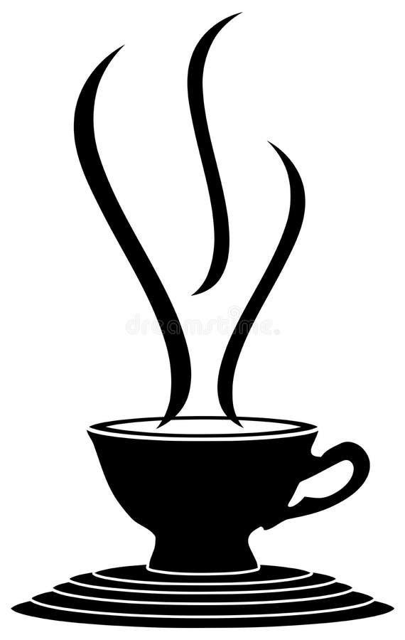 Kleurrijke kop van koffie op fantastische geïsoleerde steun royalty-vrije illustratie