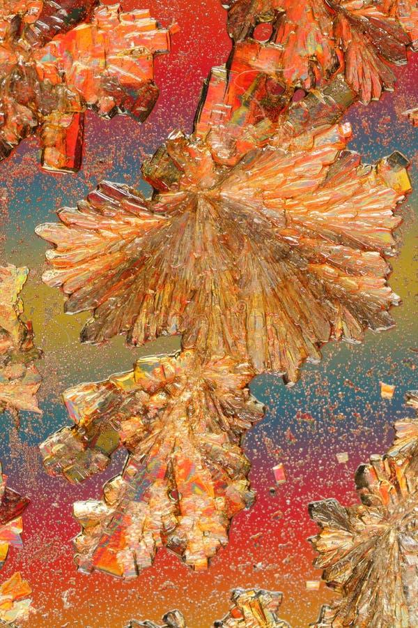 Kleurrijke kristallen stock afbeeldingen