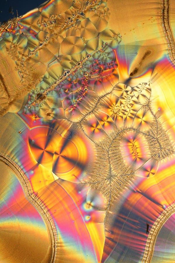 Kleurrijke kristallenmacro stock afbeeldingen