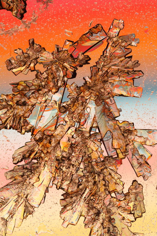 Kleurrijke kristallenmacro stock foto's