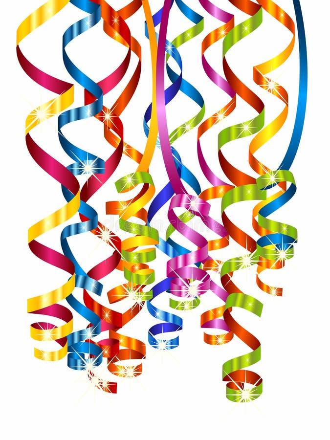 Kleurrijke kronkelweg royalty-vrije illustratie