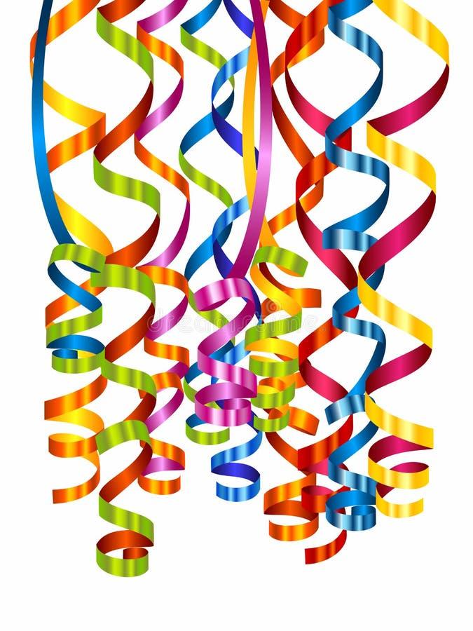 Kleurrijke kronkelweg stock illustratie