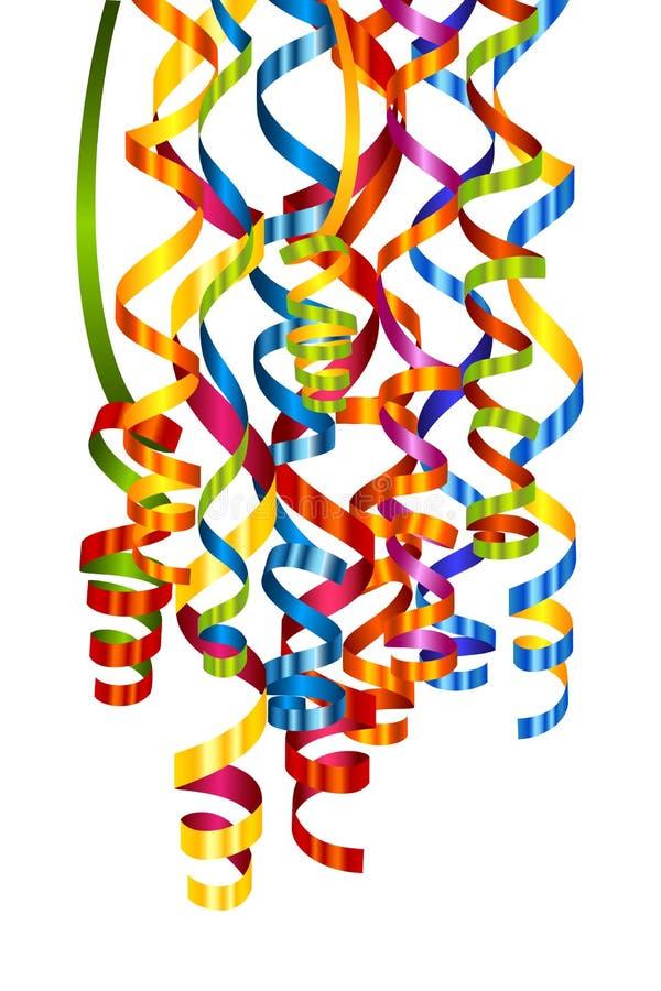 Kleurrijke kronkelweg vector illustratie