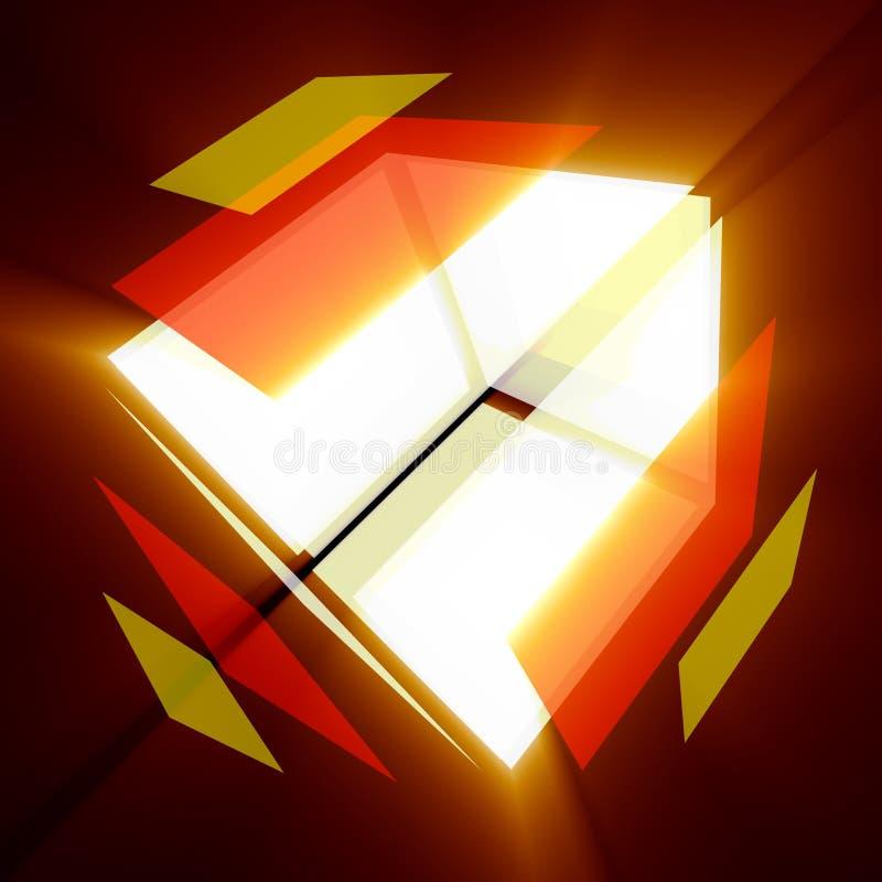 Kleurrijke kubus stock foto