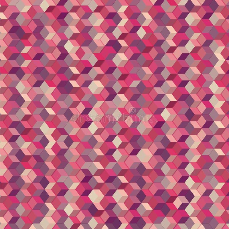 Kleurrijke kubus abstracte achtergrond stock illustratie