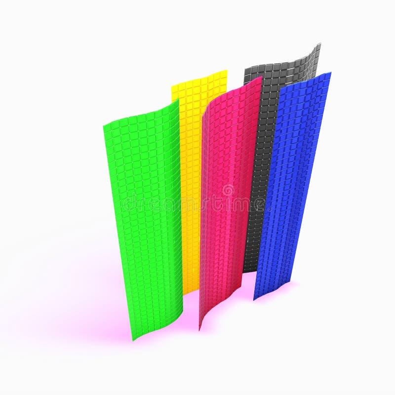 Kleurrijke kubusmuren stock illustratie