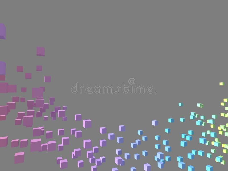 Kleurrijke kubussen stock illustratie
