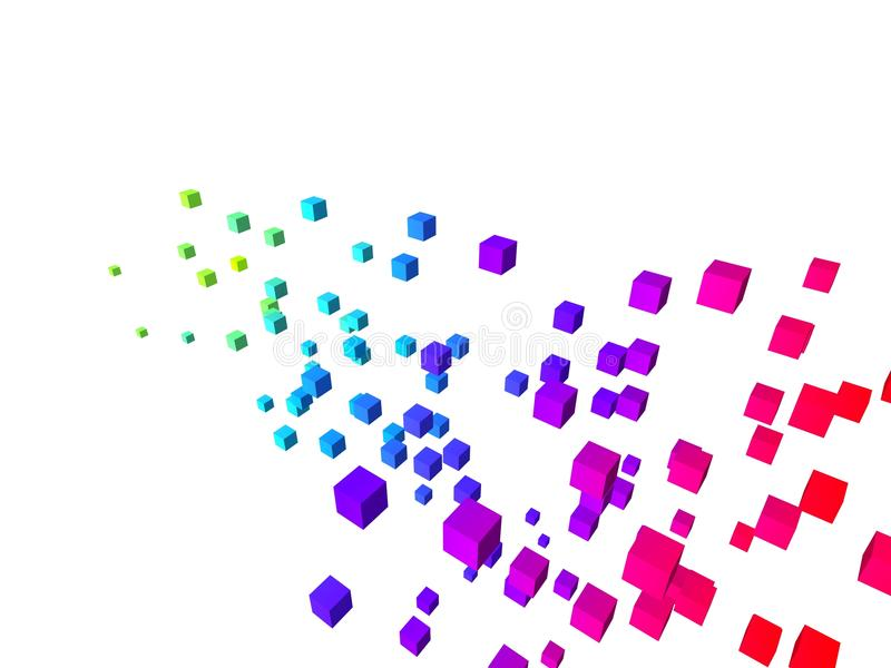 Kleurrijke kubussen vector illustratie