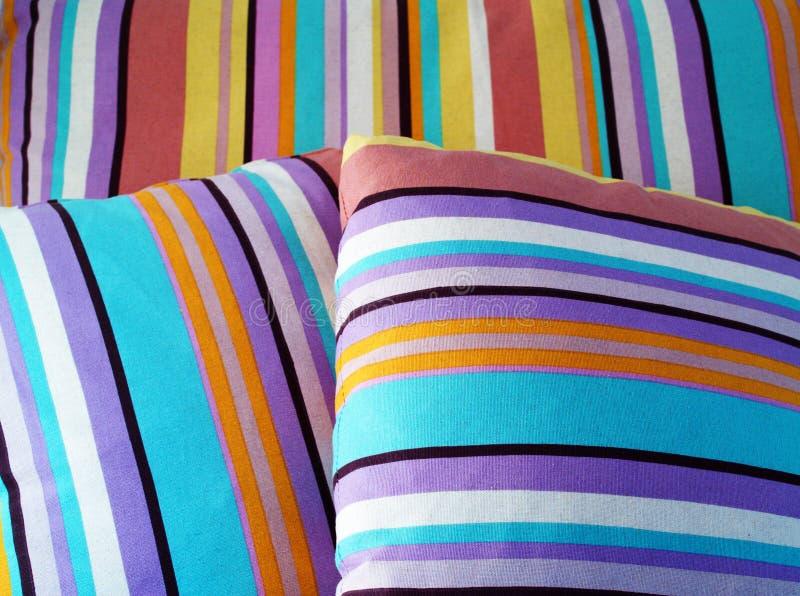 Kleurrijke kussens stock afbeelding