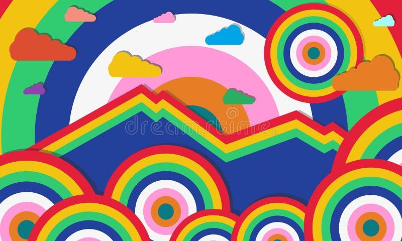 Kleurrijke landschappen stock foto's