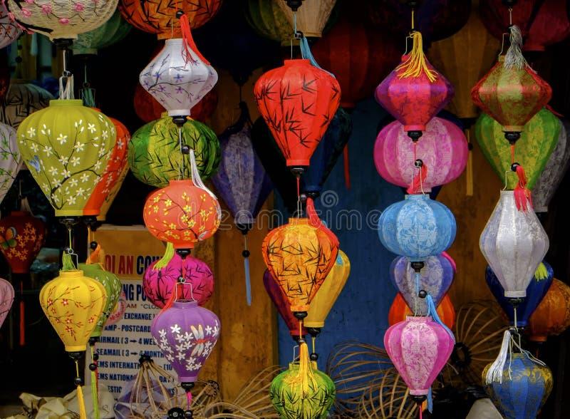 Kleurrijke Lantaarns, Hoi An, Vietnam royalty-vrije stock foto's