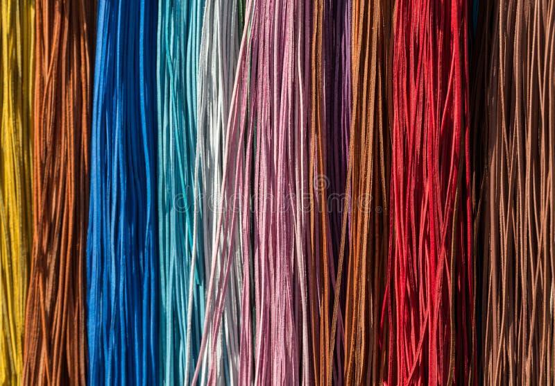 Kleurrijke leerstrepen royalty-vrije stock fotografie