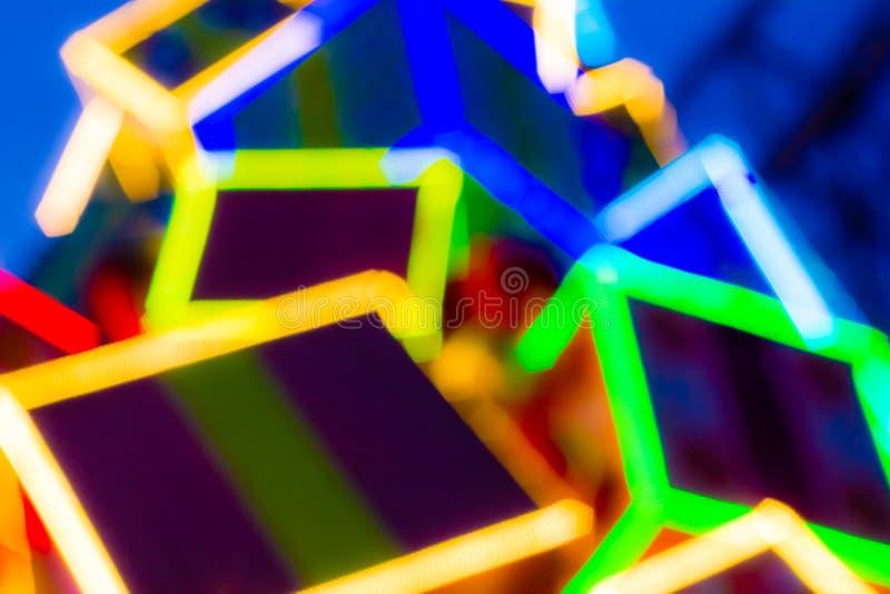 Kleurrijke LEIDEN Licht stock afbeelding