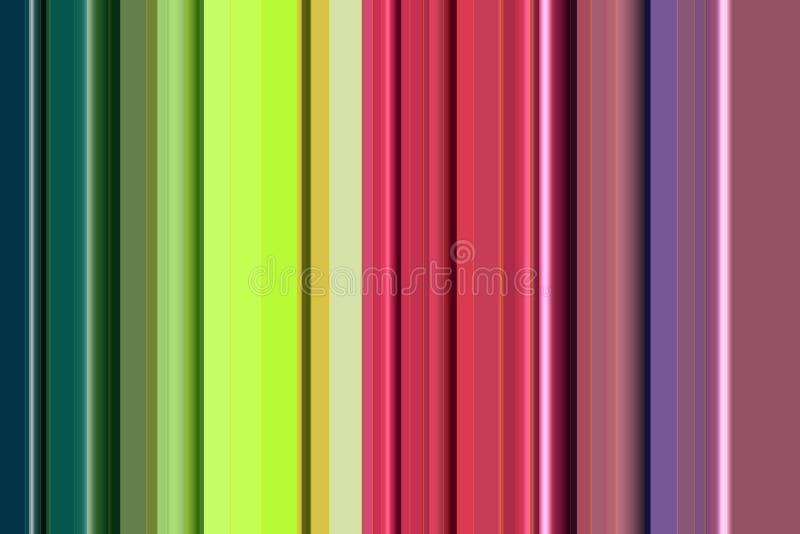 Kleurrijke levendige lijnen in roze en groen tinten, textuur en patroon vector illustratie
