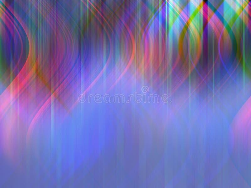 Kleurrijke lichte dans stock illustratie
