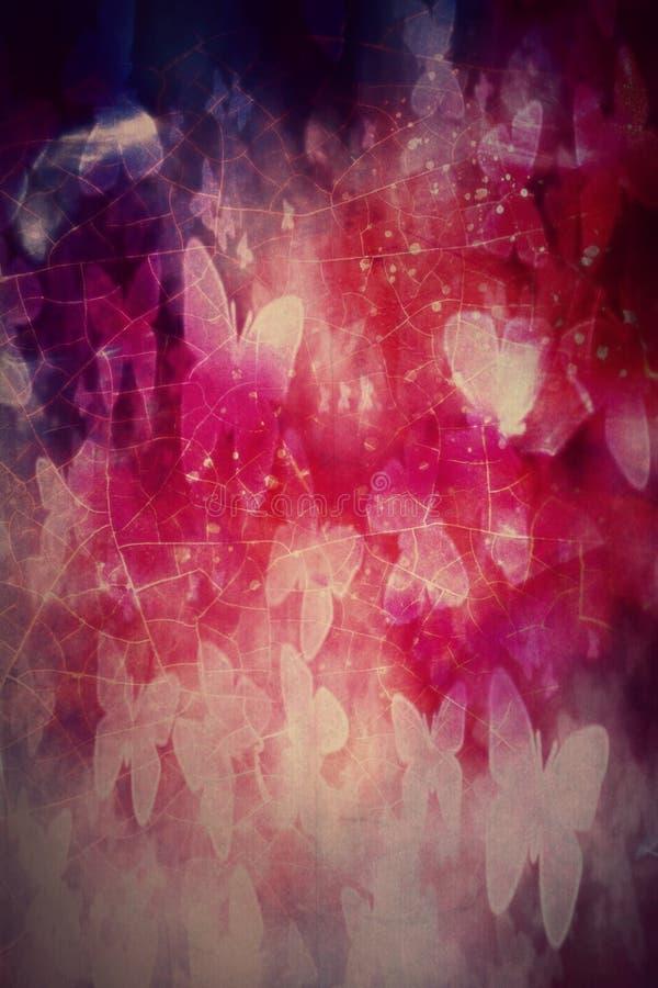 Kleurrijke lichte het Web bokeh vlinders van het Webonduidelijke beeld stock afbeeldingen