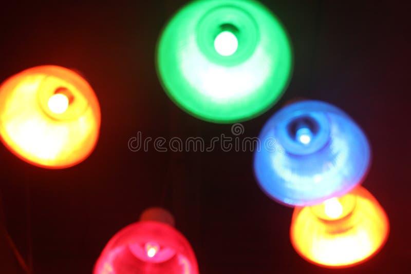 Kleurrijke lichten op een plafond royalty-vrije stock afbeelding