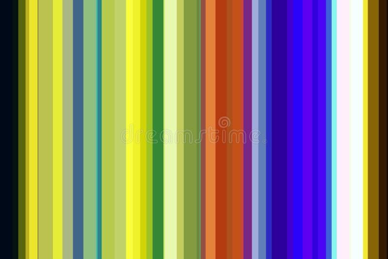 Kleurrijke lijnen in oranje, blauwe, gele tinten vector illustratie