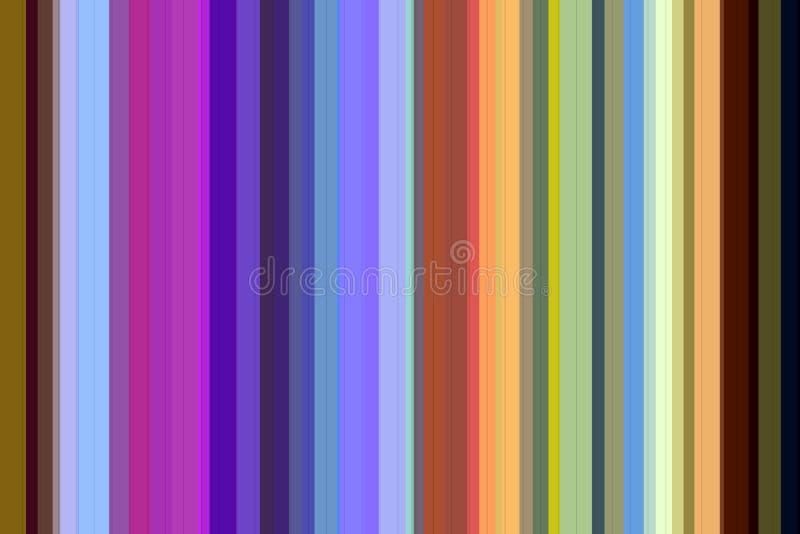 Kleurrijke lijnen in zilveren, blauwe, roze, fosforescerende tinten stock illustratie