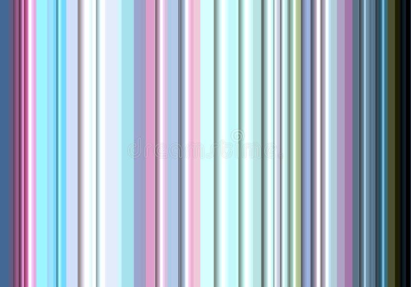 Kleurrijke lijnen in zilveren, blauwe, roze tinten stock illustratie