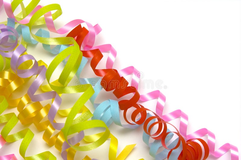 Kleurrijke linten stock foto