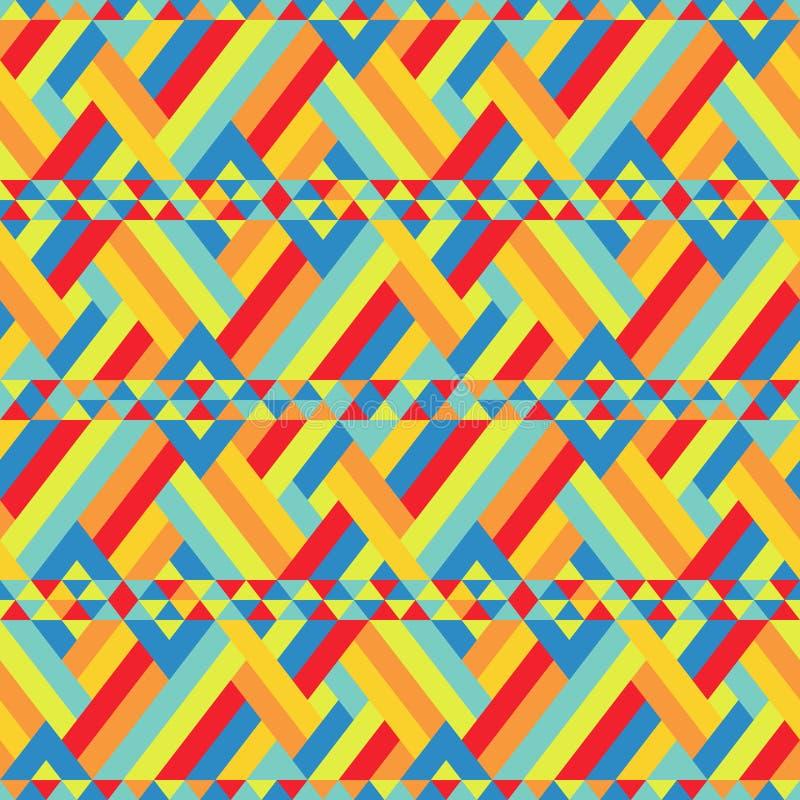 Kleurrijke Linten Verbindend bij Naadloos Patroon royalty-vrije illustratie