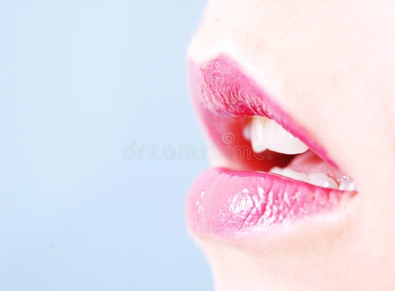 Kleurrijke lippen royalty-vrije stock foto's
