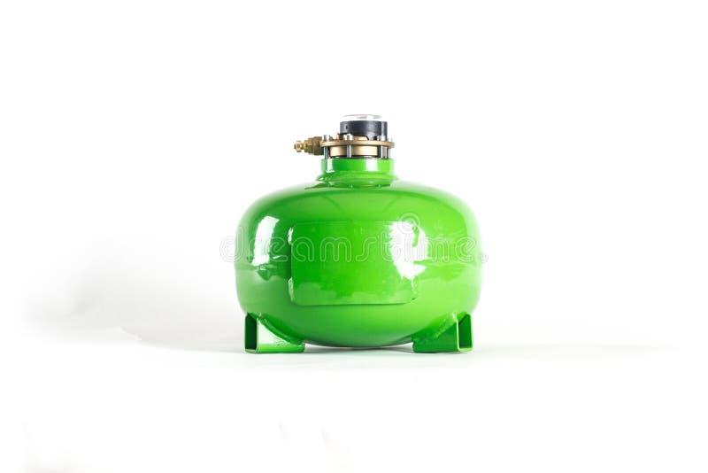Kleurrijke LPG-Tanks met automobielmultivalve stock foto