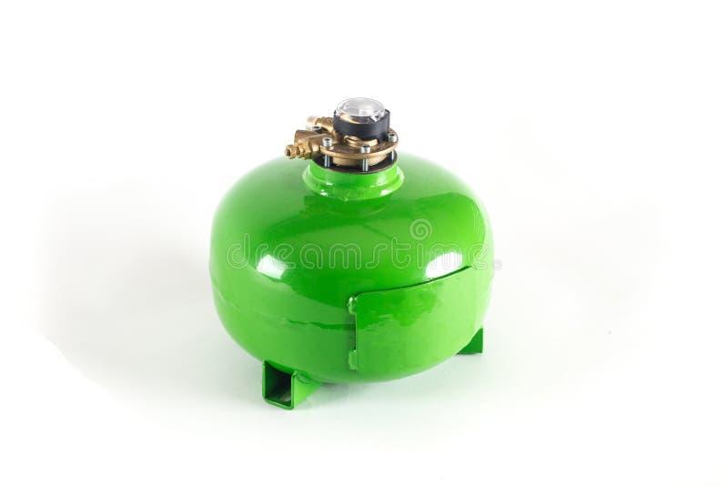 Kleurrijke LPG-Tanks met automobielmultivalve royalty-vrije stock foto