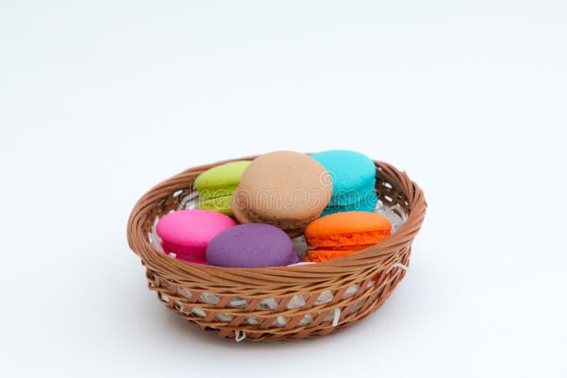 Kleurrijke macaron stock foto's