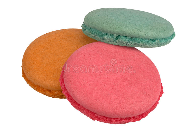 Kleurrijke makaronsdelen stock afbeelding