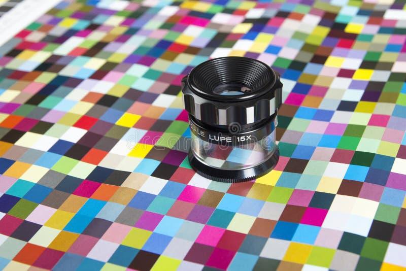 Kleurrijke managamentflarden van de drukkleur royalty-vrije stock foto's
