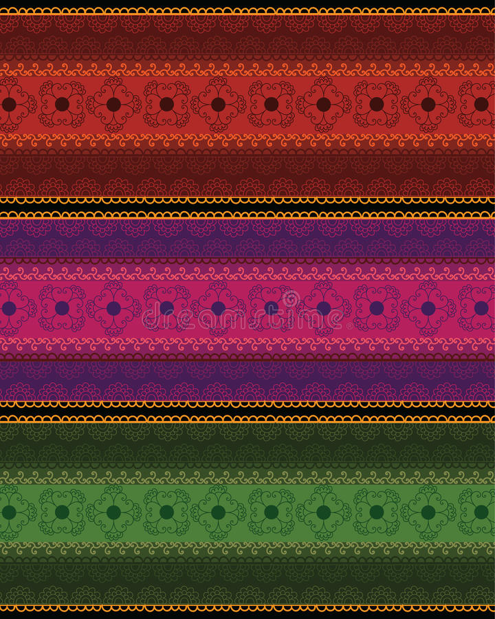 Kleurrijke Mandala Banner /Border vector illustratie