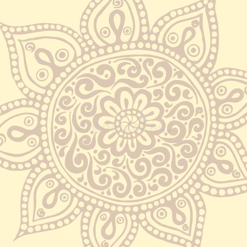 Kleurrijke mandala Decoratieve ronde ornamenten royalty-vrije illustratie
