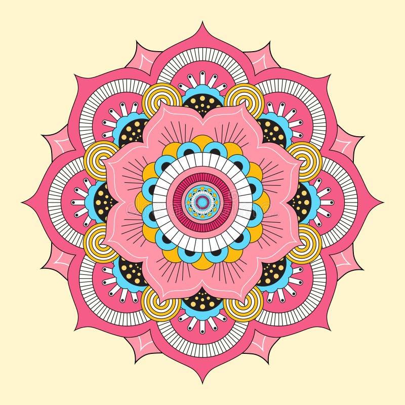 Kleurrijke mandala Decoratieve ronde ornamenten vector illustratie