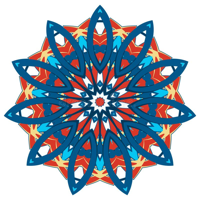 Kleurrijke mandala Etnische stammenornamenten stock illustratie