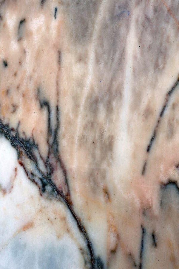 Kleurrijke Marmeren Oppervlakte in een Close-upfoto royalty-vrije stock afbeelding