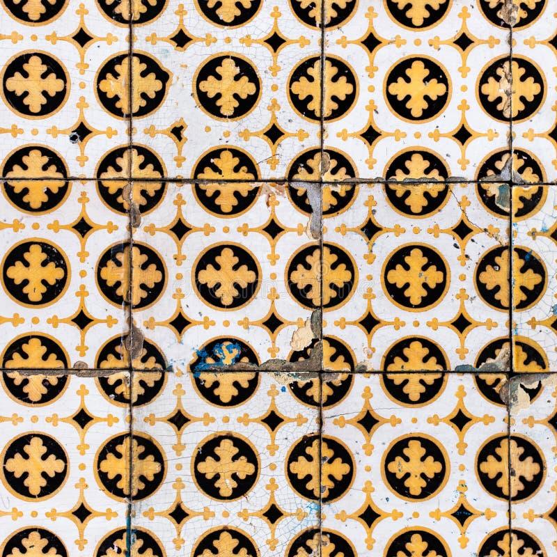 Kleurrijke Marokkaanse, Portugese tegels, Azulejo, ornamenten Kan zijn royalty-vrije stock afbeelding