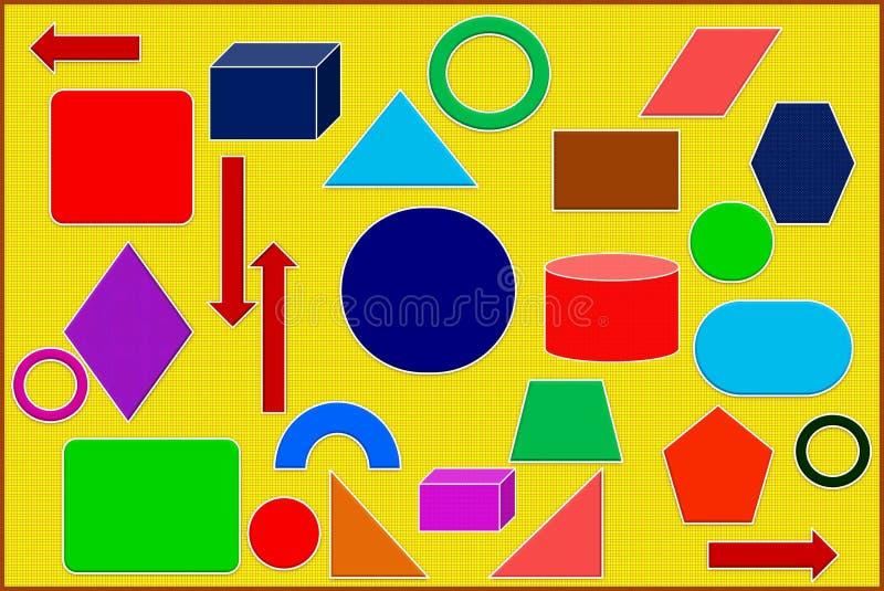 Kleurrijke Meetkunde stock foto