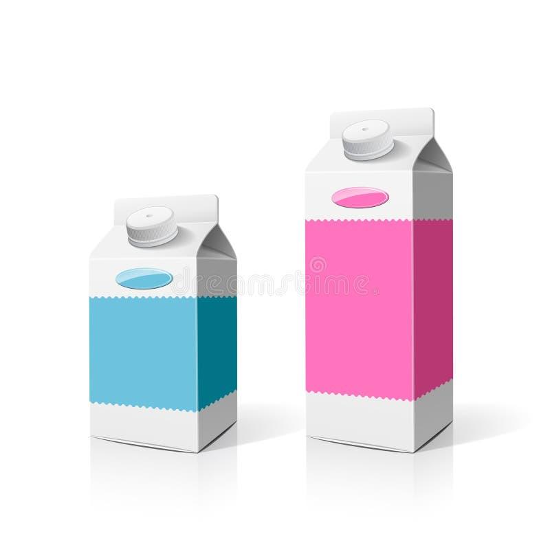 Kleurrijke Melkdoos stock illustratie