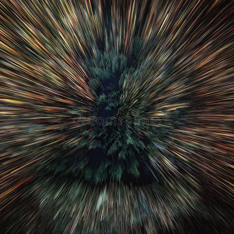 Kleurrijke melkweg abstracte kosmische achtergrond Glanzend fantasieheelal Diepe Kosmos Exploderende ster in ruimte Oneindigheid royalty-vrije stock afbeeldingen