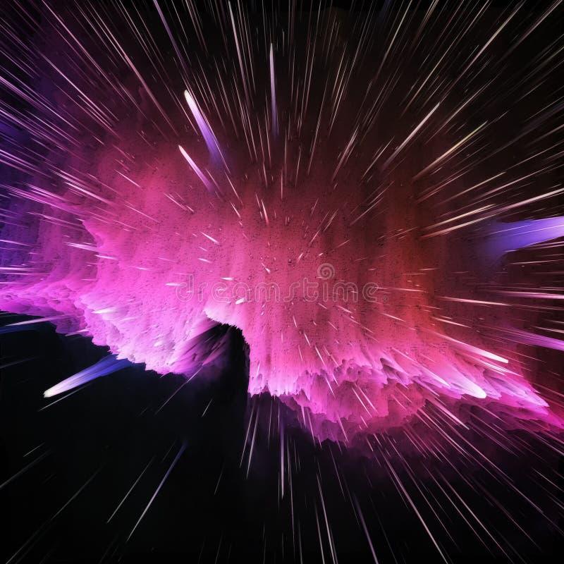 Kleurrijke melkweg abstracte kosmische achtergrond Glanzend fantasieheelal Diepe Kosmos Oneindigheidsexploratie 3D Illustratie stock fotografie
