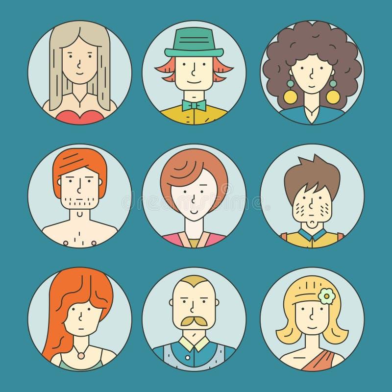 Kleurrijke mensen vector illustratie