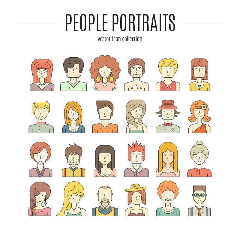 Kleurrijke mensen stock illustratie
