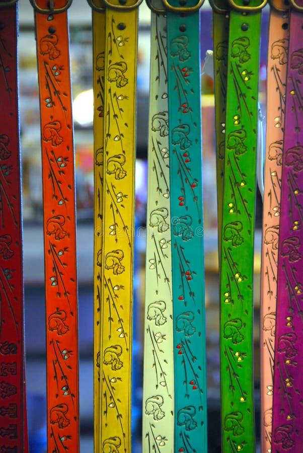 Kleurrijke Met de hand gemaakte Riemen stock foto's