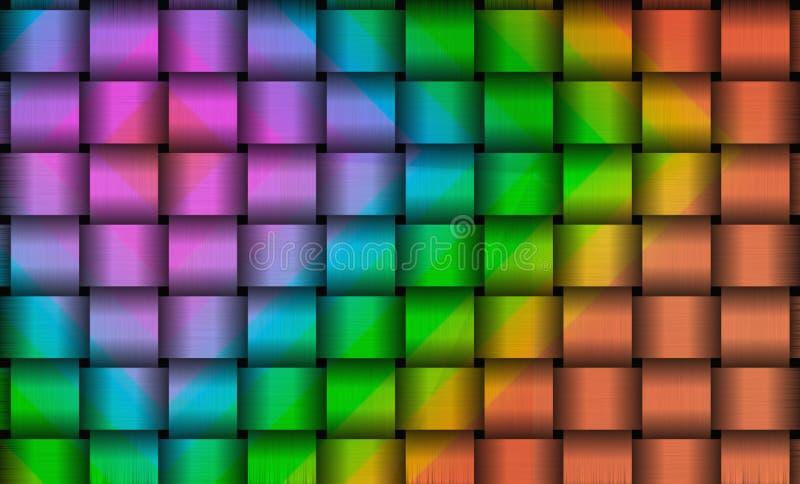Kleurrijke metaalvierkantenachtergrond royalty-vrije illustratie
