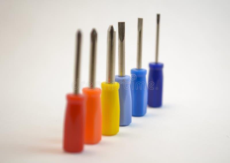 Kleurrijke minicrewdriverbeetjes royalty-vrije stock foto